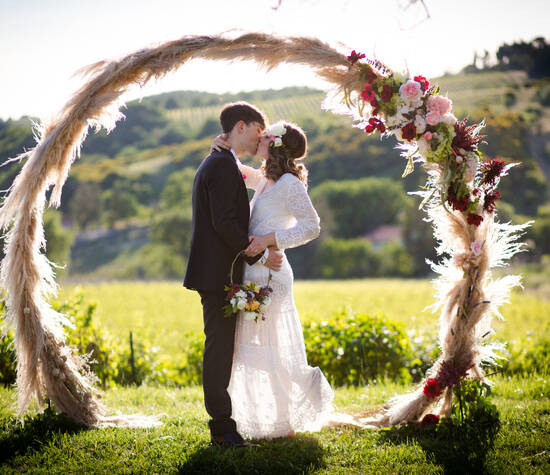 Romantic and dreamy round arch