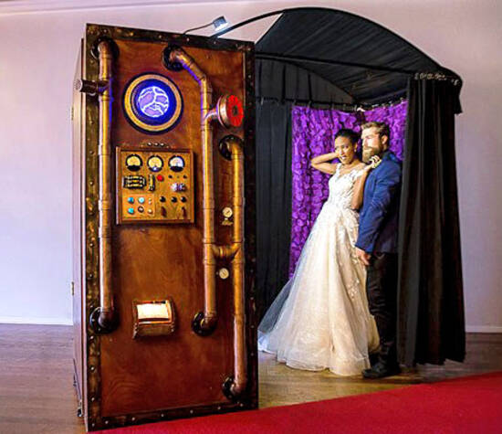Vintage Steampunk Time Machine Photo Booth