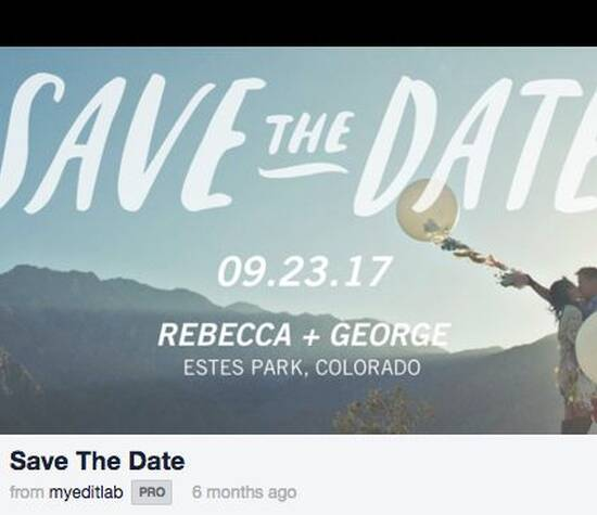 Ditch the paper! Send video Save the Date and invitations