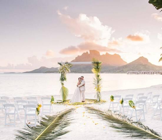 Wedding at the Four Seasons Bora Bora