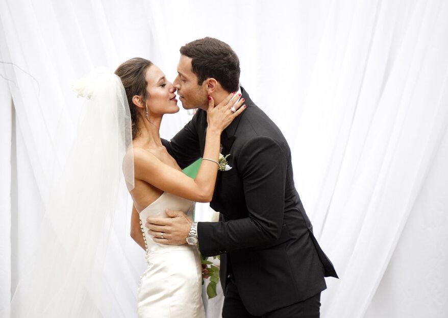 Cristina and Tim's Glamourous Loft Wedding in Long Island